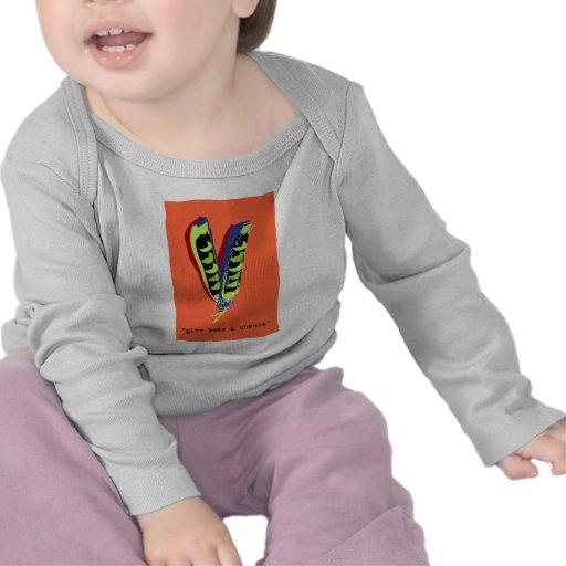 give peas a chance-orange t shirts