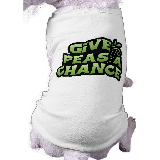 Give Peas A Chance Pet T-shirt