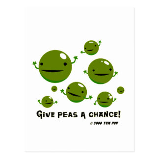 Give Peas a Chance Postcard