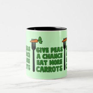 Give peas a chance Two-Tone coffee mug