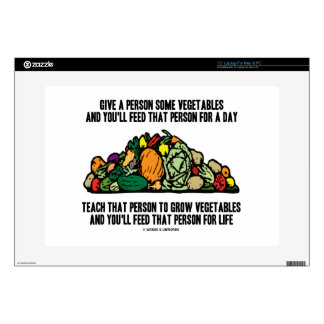 Give Person Some Vegetables Feed For A Day Saying Laptop Decal