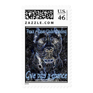 Give Pits a Chance postage stamp