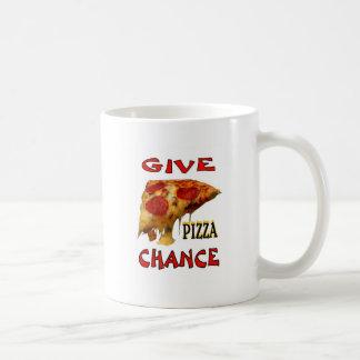 GIVE PIZZA CHANCE COFFEE MUGS