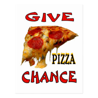 GIVE PIZZA CHANCE POSTCARD