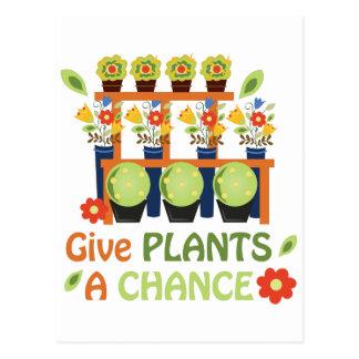 Give Plants Chance Postcard