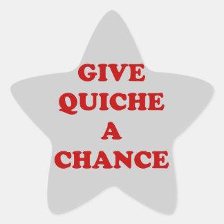 Give Quiche A Chance Star Sticker