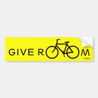 Give room to bikes bumper sticker