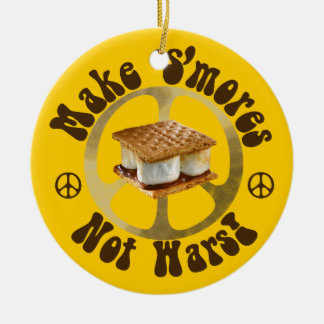 Give S'mores Peace a Chance Ceramic Ornament