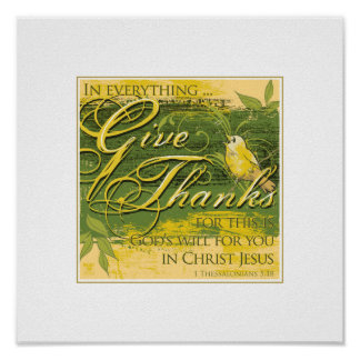 "Give Thanks 12""x 12"" Print"
