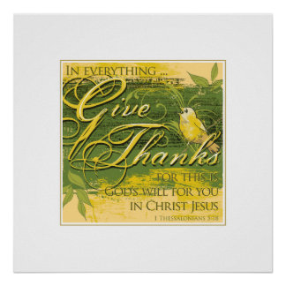 "Give Thanks 24""x 24"" Print"