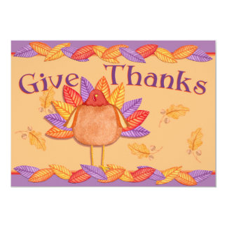 Give Thanks 5x7 Paper Invitation Card