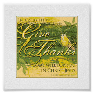 "Give Thanks 6""x 6"" Small Print"
