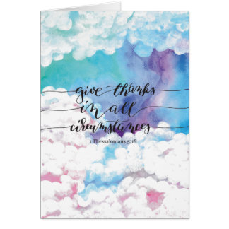 Give Thanks All Circumstances 4 Card