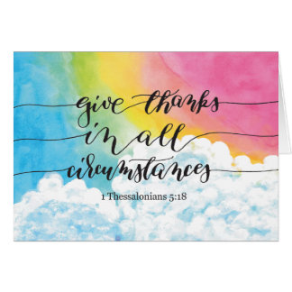Give Thanks All Circumstances Card