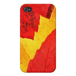 Give Thanks Autumn Leaves Cases For iPhone 4