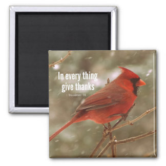 Give Thanks Bible Verse 2 Inch Square Magnet
