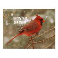 Give Thanks Bible Verse Postcard