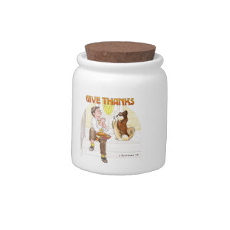 Give Thanks Blessing Jar Candy Jar