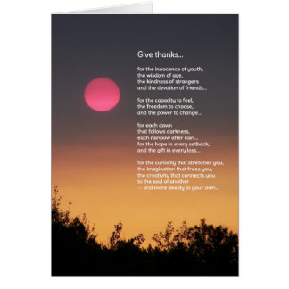 Give Thanks... Card