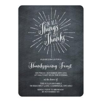 Give Thanks | Chalkboard Thanksgiving Invitation