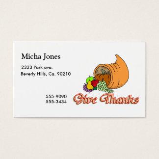 Give Thanks Cornucopia Business Card