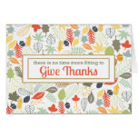 Give Thanks Corporate Thanksgiving Thank you Card