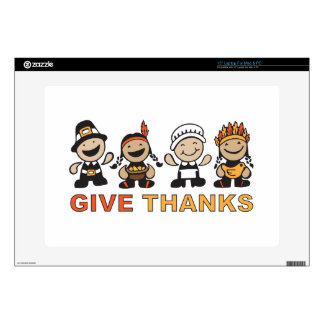 """Give Thanks Decals For 15"""" Laptops"""