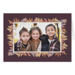 Give Thanks fall photo card