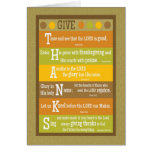 GIVE THANKS Folded Scripture Thanksgiving Card