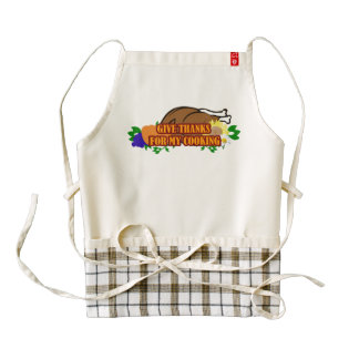 Give Thanks For My Cooking - Zazzle HEART Apron