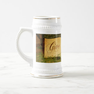 Give Thanks for Thanksgiving Beer Stein