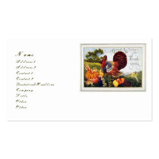 Give Thanks for Thanksgiving Double-Sided Standard Business Cards (Pack Of 100)