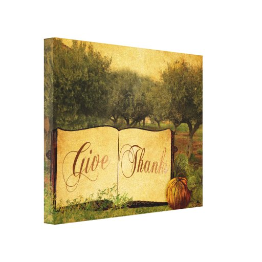 Give Thanks for Thanksgiving Gallery Wrapped Canvas