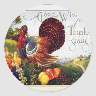 Give Thanks for Thanksgiving Classic Round Sticker