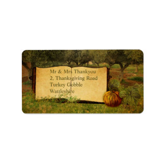 Give Thanks for Thanksgiving Label