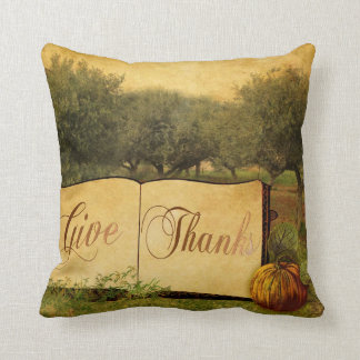 Give Thanks for Thanksgiving Pillow