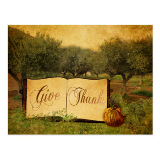 Give Thanks for Thanksgiving Postcard