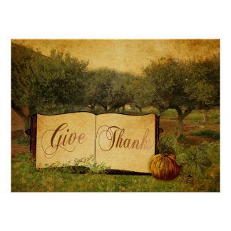 Give Thanks for Thanksgiving Print