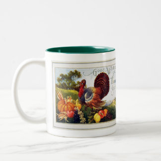 Give Thanks for Thanksgiving Two-Tone Coffee Mug