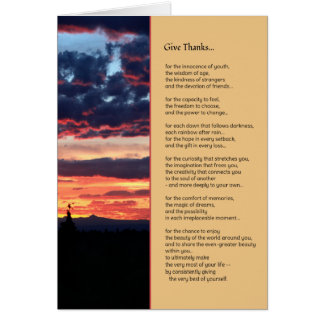 Give Thanks for the Beauty... Greeting Card