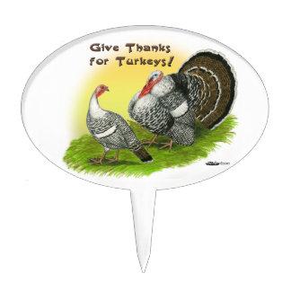 Give Thanks For Turkeys! Cake Topper