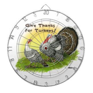 Give Thanks For Turkeys! Dartboards