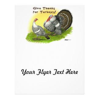 Give Thanks For Turkeys! Flyer