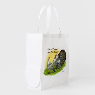 Give Thanks For Turkeys! Reusable Grocery Bag