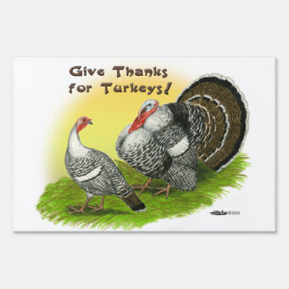Give Thanks For Turkeys! Sign