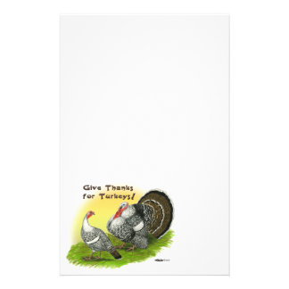Give Thanks For Turkeys! Stationery