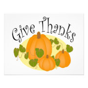 Give Thanks Greeting Card Personalized Announcement