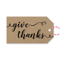Give Thanks Handwritten Gift Tags