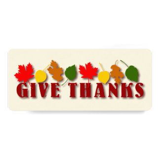 Give Thanks Harvest Leaves Card