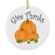 Give Thanks Harvest Pumpkins Ornament